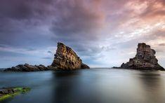 Télécharger fonds d'écran L'Europe, de la mer, 4k, la côte, les rochers, horizon, Bulgarie