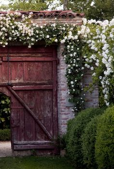 This is an attractive way to display a garden gate. I like this.