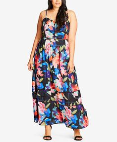 119.00$  Buy now - http://vizbi.justgood.pw/vig/item.php?t=qg00ji36747 - Trendy Plus Size Cutout-Trim Maxi Dress