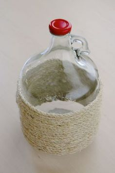 Easy DIY: Updating a Glass Cider Jug by Heather Jennings of Poppy Haus on Bob Vila Nation