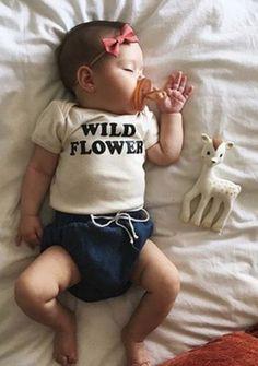 Wild Flower Organic Baby Romper | SavageSeeds on Etsy