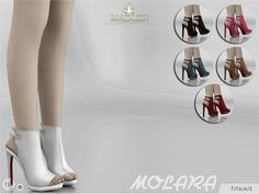 Come in 6 colours!  Found in TSR Category 'Sims 4 Shoes Female'