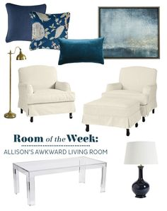 Creating a room layout for Allison's awkward living room
