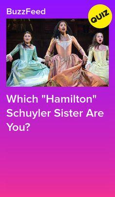 """Which """"Hamilton"""" Schuyler Sister Are You? Hamilton Quiz, Hamilton Broadway, Hamilton Musical, Musical Quiz, Musical Theatre, Hamilton Schuyler Sisters, Hamilton Wallpaper, Quizzes For Fun, Eliza Schuyler"""