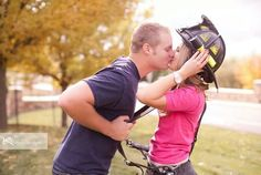 Firefighter engagement picture. Love this photo!