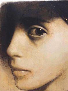 Golucho (b 1949) - retrato desde la penumbra / portrait from the gloom,  mixta,  149x198.5 cm