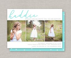 Custom Cards & Party Printables by announcingyou Baptism Pictures, Baptism Ideas, Baptism Invitations, Overnight Shipping, First Communion, Custom Cards, Party Printables, Lds, Prints
