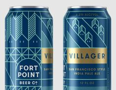 New Logo, Identity, and Packaging for Fort Point Beer by Manual