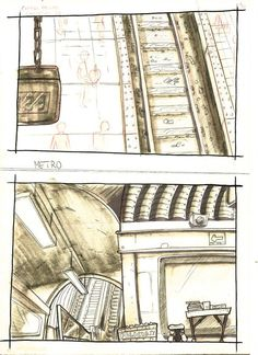Layouts for a animated tv show pilot.