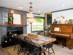 Though the renovation was a thorough update, Joanna incorporated older furnishings and antiques todeliberately avoid the appearance of a new build or simple remodel.