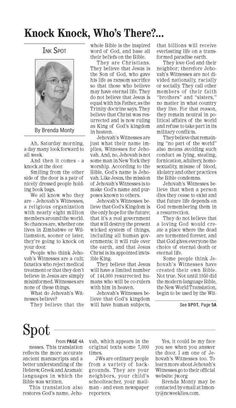 This column was written in 2012 by a sister who is a staff writer at this newspaper - The Martin County Enterprise &Weekly Herald newspaper, based in Williamston, N.C., USA (Sorry, the newspaper doesn't have a website.) Sister Monty was baptized in 1975 in Hampton, Va. She lives in a small town in North Carolina, USA. (2014)