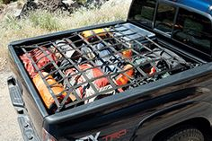 Keep your load of tools and gear in your truck bed with the Tacomas bed net. Featuring durable nylon webbing, the bed net attaches to defined points at the front, middle and rear of the truck bed. It installs or detaches in seconds.