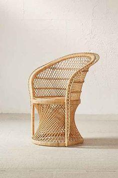 rattan chair - boho