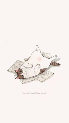 Cute cat daliy life planned parenthood t shirt nasty woman - Woman T-shirts Cat Wallpaper, Kawaii Wallpaper, Cute Wallpaper Backgrounds, Dibujos Cute, Cat Drawing, Life Drawing, Drawing Tips, Cat Love, Crazy Cats