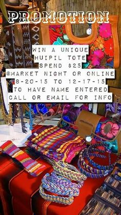 Online store  www.mkt.com/ELANCLABOUTIQUE HERE IS YOUR CHANCE TO WIN! A UniQue Huipil Tote! $125 value Wow! Or Come down tomorrow at Redlands Market night to see our full spread  6-9pm ⚓Boutique booth F Our email for more info ELANCLABOUTIQUE@gmail.com