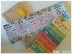Meal planning week 5 Kasia