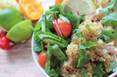Clean Eating Chicken Citrus Quinoa - A delicious bright and fresh protein packed summertime quinoa.