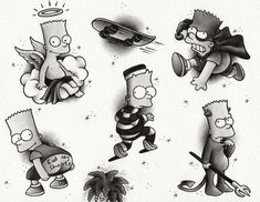 Hey, I found this really awesome Etsy listing at https://www.etsy.com/listing/233805360/bart-simpson-flash-sheet-illustration