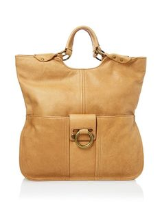 Ring Leader Fold Over Tote, Rust