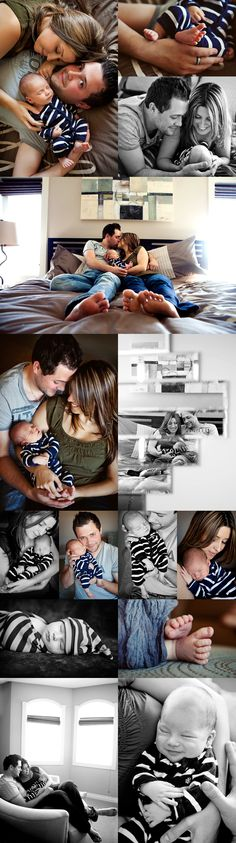Newborn photo ideas with the family! Love it, but I would add Jasper to the family album too!