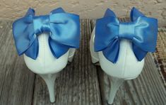 HEEL HUGGERS Satin Bow Shoe Clips  set of 2   by ShoeClipsOnly, $38.00