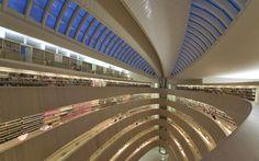 Law Library in Zurich, Switzerland. Designed by Santiago Calatrava.