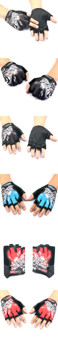 Cool Unisex Cycling Gloves Men Sports Half Finger Anti Slip Motorcycle MTB Road Bike Gloves 3 Colors Bicycle Gloves