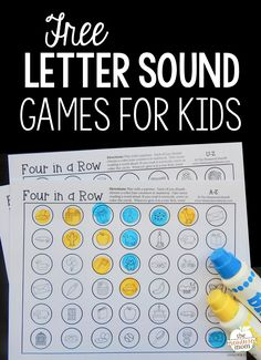 Print these no-prep games for some fun letter sounds review! Such a great beginning sounds activity.