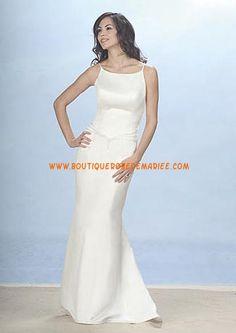 Robe de mariée sirène bretelles croisées