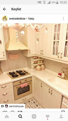 Question 5 Source by Dining Nook, Kitchen Dining, Kitchen Decor, Kitchen Cabinets, Shabby Chic Kitchen, Shabby Chic Decor, Kitchen World, Mini Kitchen, Apartment Kitchen
