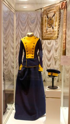 Uniform of Grand Duchess Tatiana Nikolaevna, Colonel-in-chief of the 8th Voznesensky Uhlan Regiment. #romanovs #tsarskoyeselo #Russia