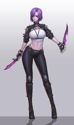 ArtStation - Cyberpunk girl, Nitro . Dark Warrior, Angel Warrior, Warrior Girl, Cyberpunk Anime, Cyberpunk Girl, Dark Fantasy Art, Fantasy Women, Character Art, Character Design