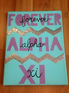 Made this for my little! My favorite thing I've made #canvas #alphaxidelta #sorority Alpha Xi Delta canvas