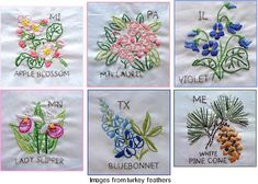 Free patterns: State flowers