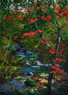 William Jameson Fine Art - Painting the blue ridge