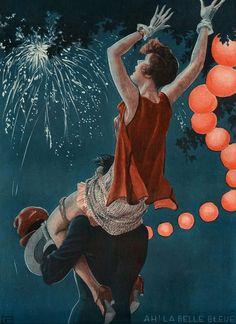 llustration by Georges Leonnec For La Vie Parisienne 1920s