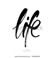 "Poster with hand drawn brush lettering ""life"" on white background. Hand Drawn Lettering, Brush Lettering, Painted Letters, Vector Hand, Modern Calligraphy, How To Draw Hands, Illustration, Painting, Life"