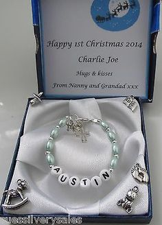 Baby boy 1st #birthday  christening #present #bracelet & personalised gift box,  View more on the LINK: 	http://www.zeppy.io/product/gb/2/131273154104/