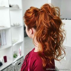 Prom Updo, Prom Ponytail Hairstyles, Redhead Hairstyles, Formal Hairstyles For Long Hair, Diy Hairstyles, Japanese Hairstyles, Korean Hairstyles, Curled Prom Hair, Half Up Half Down Hair Prom