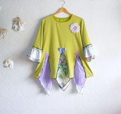 Shabby Chic Upcycle Shirt #fashion #ecofriendly #agteam #apparel