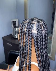 Big Box Braids Hairstyles, Hair Ponytail Styles, Braids Hairstyles Pictures, Faux Locs Hairstyles, Dope Hairstyles, Braided Hairstyles For Black Women, Braided Hairstyles For Wedding, African Braids Hairstyles, Braids For Black Hair