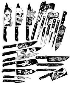 Tattoo Back Black Ink - Tattoo Flash Art Tattoos, Body Art Tattoos, Finger Tattoos, Black Ink Tattoos, Small Tattoos, Tattoo Sketches, Tattoo Drawings, Tatuagem Old Scholl, Knife Tattoo