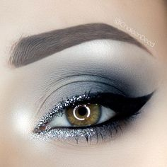 WEBSTA @ chaleendeed - I just created this silver cat eye using @urbandecaycosmetics naked smoky palette ! I love it !!! Aaaaand I am out of lash glue... and of course the onevI want is out of stock grrrrr BROWS@anastasiabeverlyhills : brow wiz in medium brownEYES@morphebrushes : 35b palette@urbandecaycosmetics : Naked Smoky palette@maccosmetics : Nylon eyeshadow@toofaced : better than sex mascara@kikomilano : precision eyeliner in black@kikomilano : black kajal@amazon Silver…