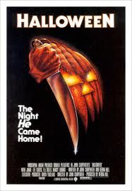 Halloween: Another iconic movie poster and possibly my favourite horror movie ever. You don't see Michael Myers much for a large chunk of the movie and this builds the suspense. Jamie Lee Curtis proves to be the ultimate horror movie actress. Horror Movie Posters, Best Horror Movies, Classic Horror Movies, Movie Poster Art, Poster S, Iconic Movie Posters, Halloween Film, Halloween Poster, Halloween Horror