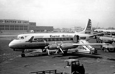 Capital Airlines Viscount at MDW. Chicago Midway Airport