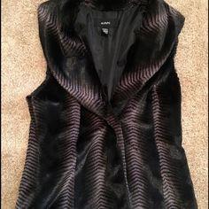 Alfani faux fur vest Beautiful faux fur brown vest with single button closure. Super soft and comfortable Alfani Jackets & Coats Vests