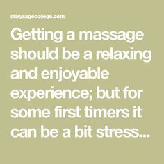 """Getting a massage should be a relaxing and enjoyable experience; but for some first timers it can be a bit stressful with questioning what to do, and how to act. Here are some helpful tips for anyone questioning proper etiquette for a massage. TIMING When you book your massage appointment be sure to keep track … Continue reading """"Massage Etiquette 101 