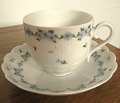 Taza de té de porcelana China Vintage Kaiser y platillo Alemania W. Lyon patrón