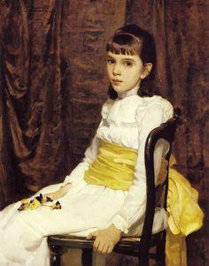 Cecilia Beaux (American painter, 1855-1942) A Little Girl (Fanny Travis Cochran), 1887
