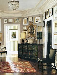 Kate Spade's home, from the Habitually Chic blog.  Beautiful color...